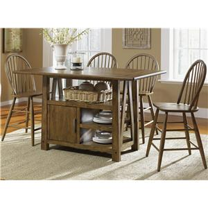 Vendor 5349 Farmhouse  5 Piece Pub Table Set