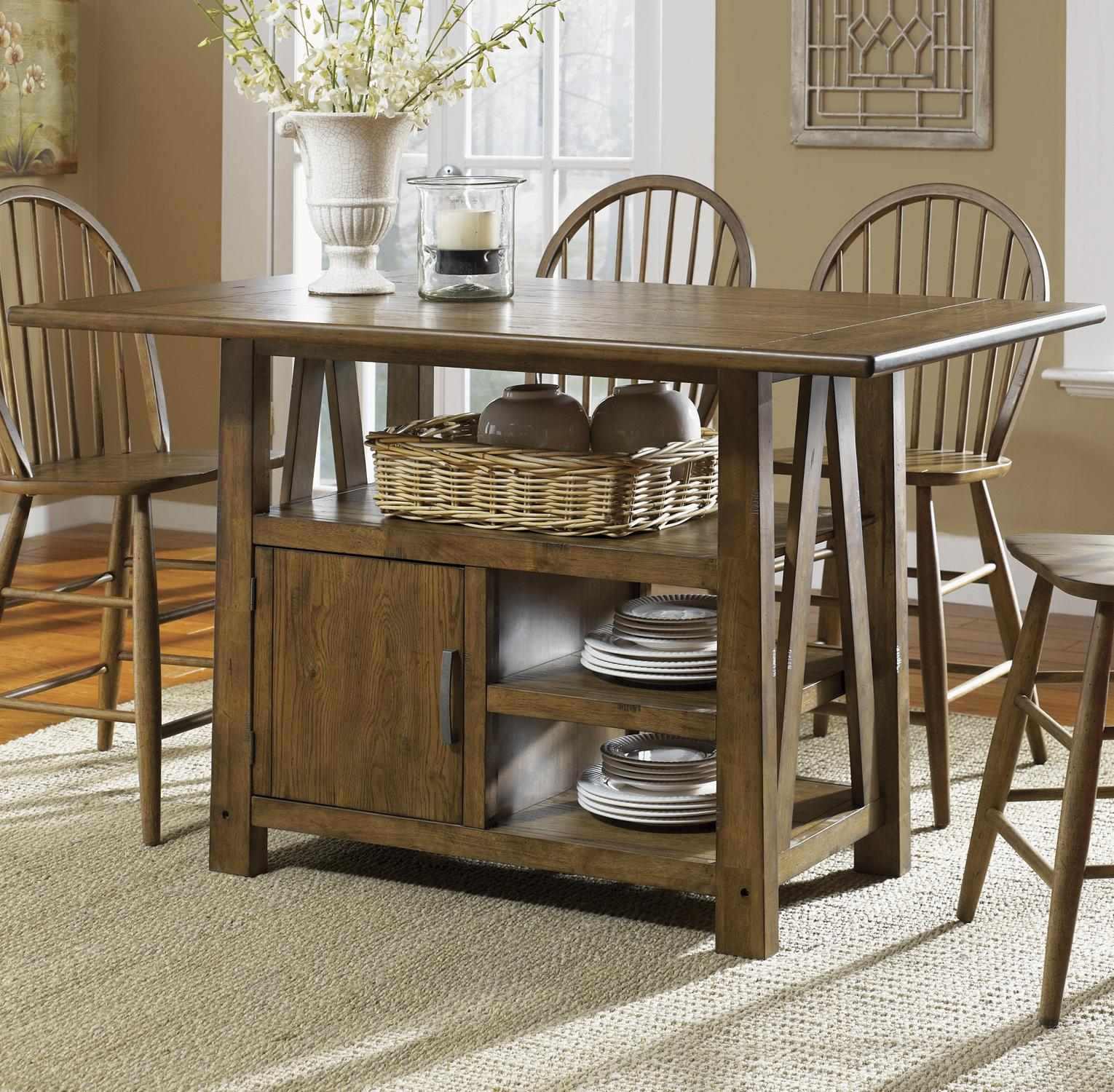 Liberty Furniture Farmhouse  Center Island Table - Item Number: 139-GT3660