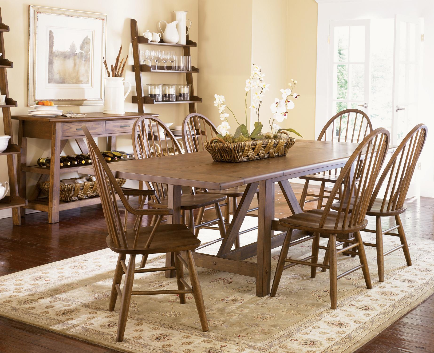 Liberty Furniture Seven Piece Trestle Dining Room Set