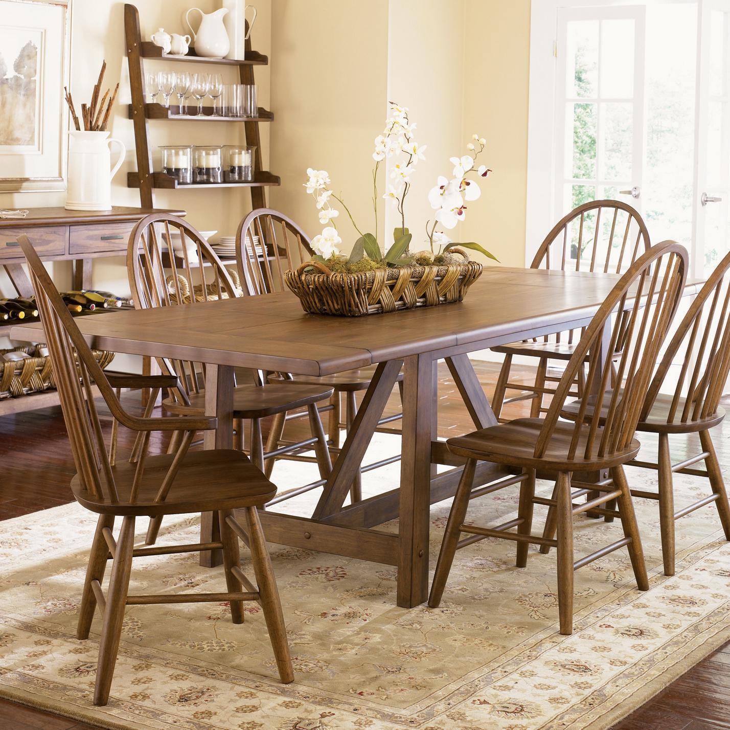 Liberty Furniture Farmhouse  Trestle Table - Item Number: 139-T4002