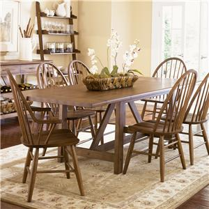 Vendor 5349 Farmhouse  Trestle Table
