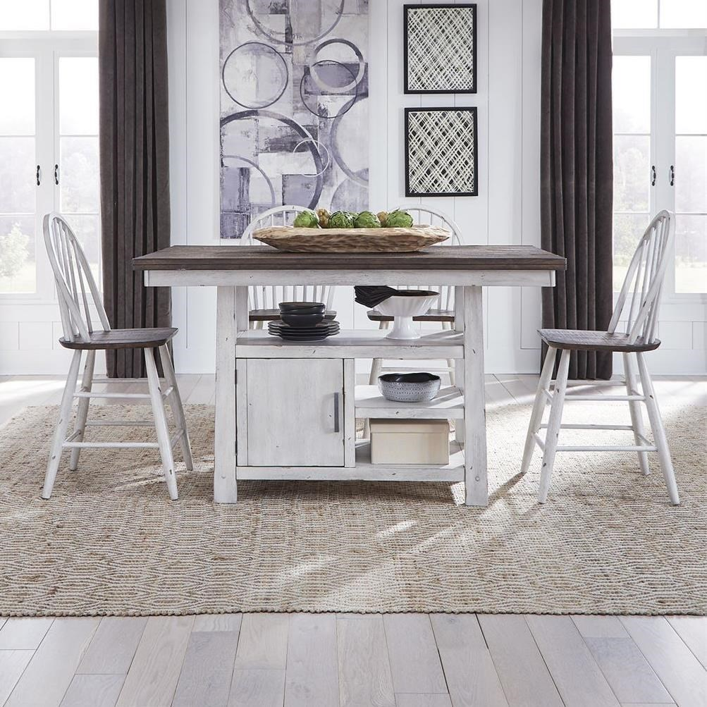 Farmhouse 5-Piece Pub Table Set by Libby at Walker's Furniture
