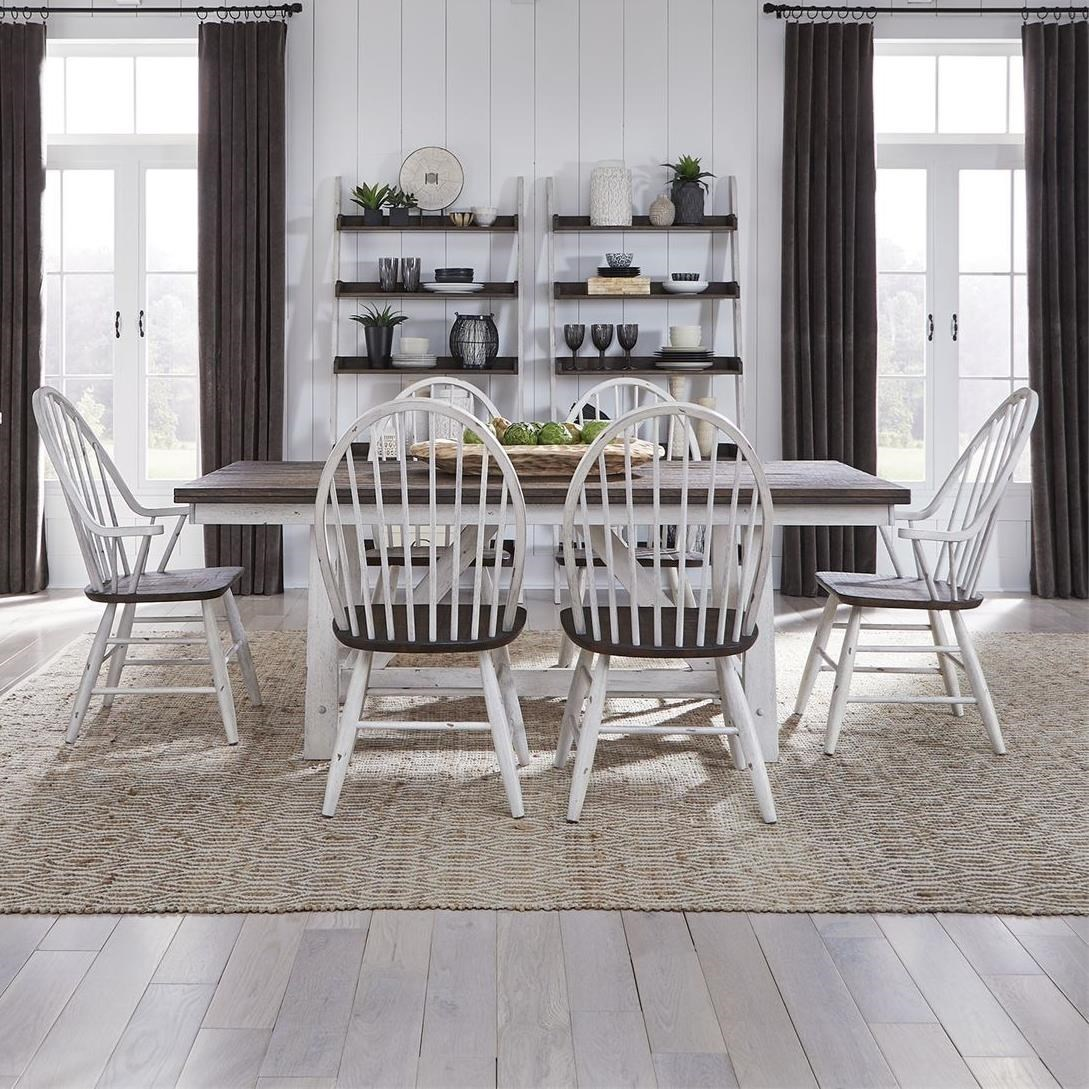 Farmhouse 7-Piece Dining Set by Libby at Walker's Furniture