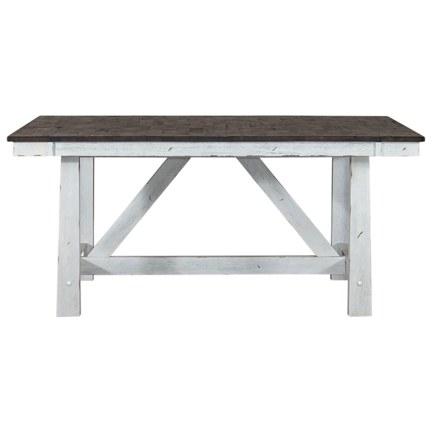 Farmhouse Trestle Table by Libby at Walker's Furniture