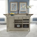 Liberty Furniture Farmhouse Reimagined Bar with Marble Top - Item Number: 652-BAR7242
