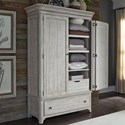 Liberty Furniture Farmhouse Reimagined Armoire  - Item Number: 652-BR-ARM