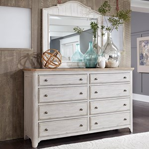Liberty Furniture Farmhouse Reimagined Dresser & Mirror