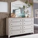 Liberty Furniture Farmhouse Reimagined Dresser & Mirror  - Item Number: 652-BR-DM