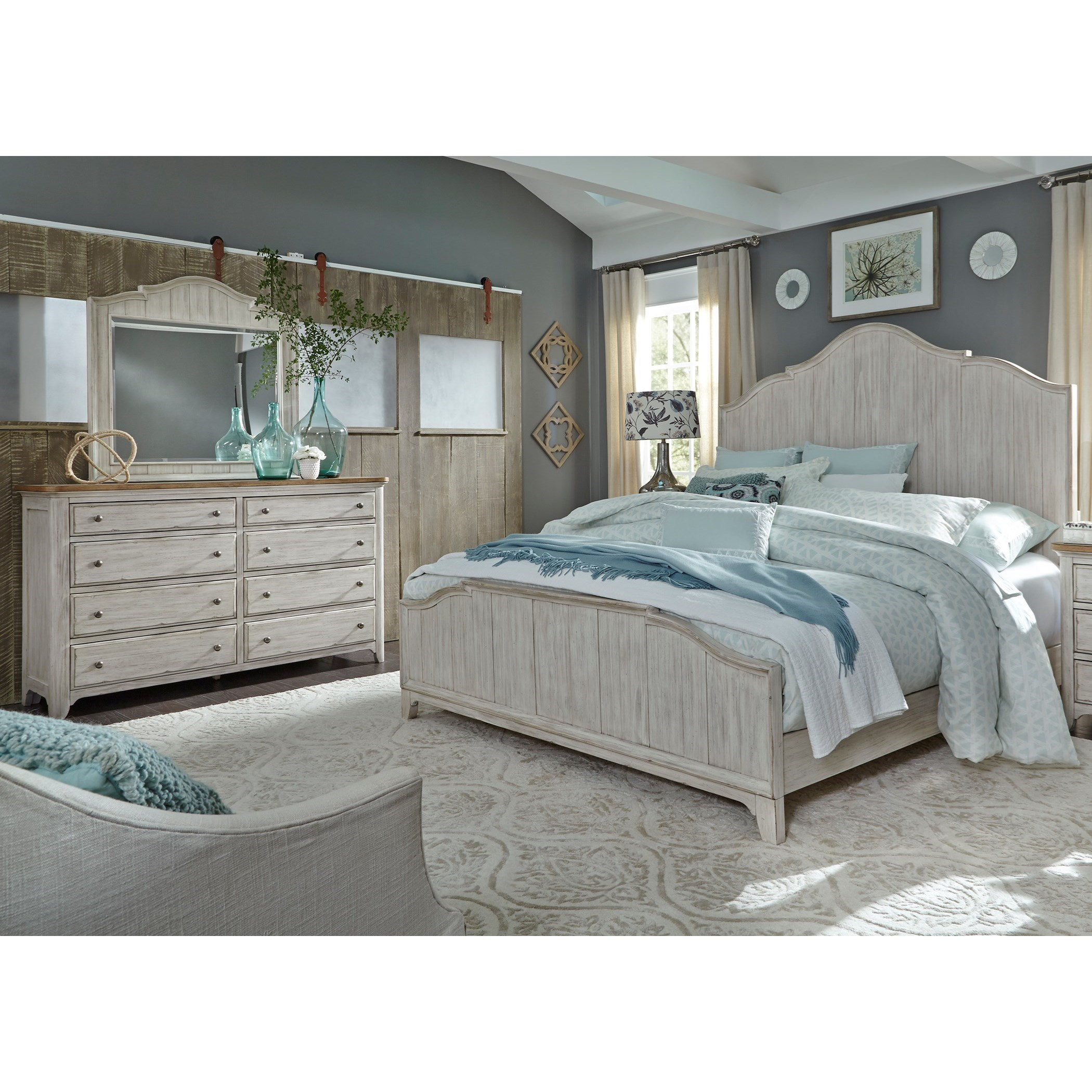 Liberty Furniture Farmhouse Reimagined Queen Bedroom Group - Item Number: 652-BR-QPBDM