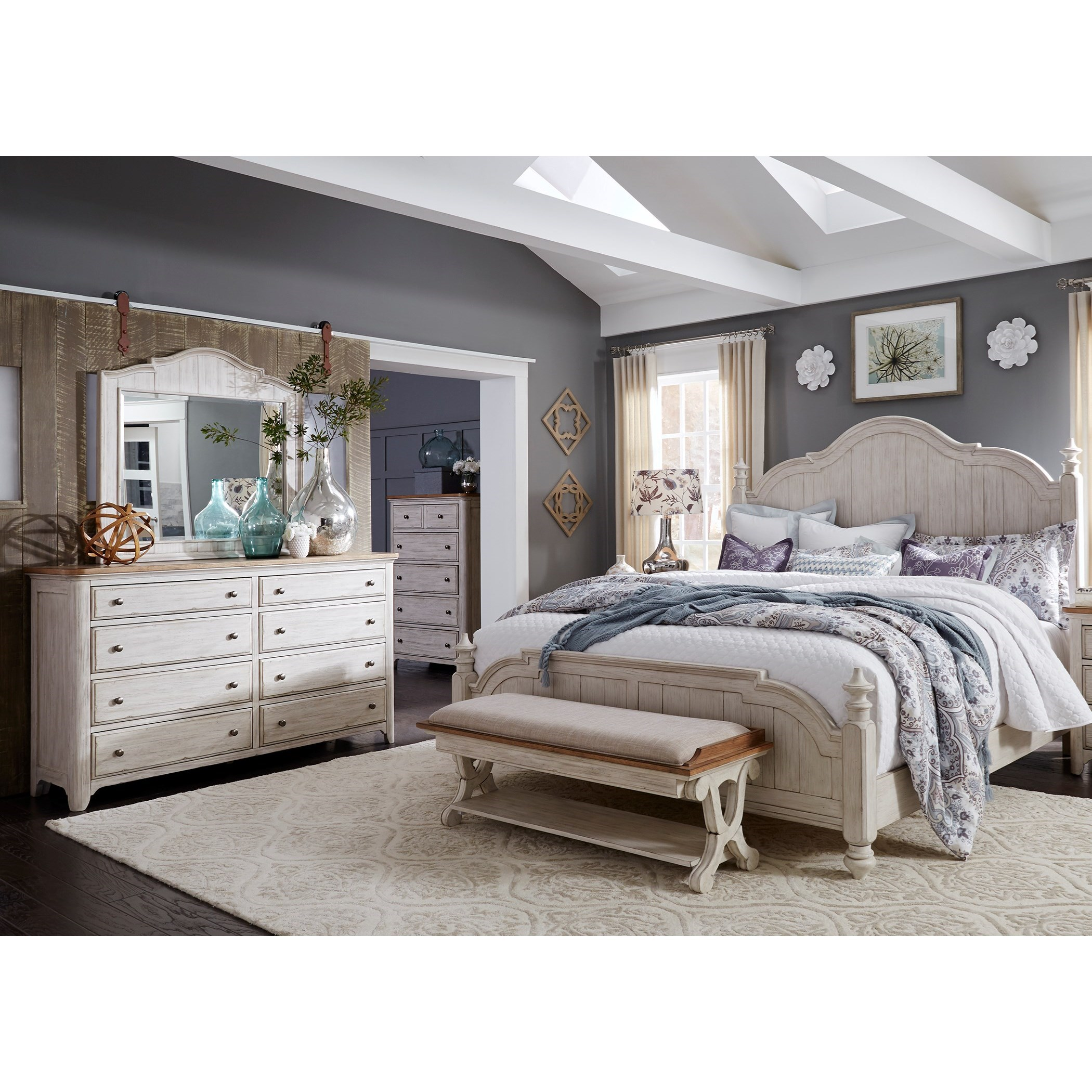 Farmhouse Reimagined Queen Bedroom Group by Liberty Furniture at Northeast Factory Direct