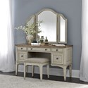 Liberty Furniture Farmhouse Reimagined Vanity Set - Item Number: 652-BR-VN