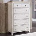 Liberty Furniture Farmhouse Reimagined 5 Drawer Chest - Item Number: 652-BR41