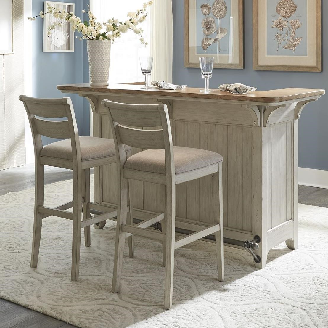 Farmhouse Reimagined 3 Piece Bar Set by Libby at Walker's Furniture