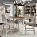 Liberty Furniture Farmington 5 Piece Gathering Table Set  - Item Number: 652-DR-5GTS