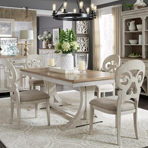 Liberty Furniture Farmhouse Reimagined 5-Piece Table and Chair Set