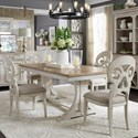 Liberty Furniture Farmhouse Reimagined 5-Piece Table and Chair Set - Item Number: 652-DR-5TRS