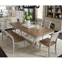 Liberty Furniture Farmhouse Reimagined 6-Piece Trestle Table Set - Item Number: 652-DR-6TRES