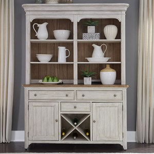 Liberty Furniture Farmhouse Reimagined Hutch & Buffet
