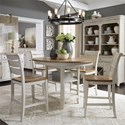 Liberty Furniture Farmhouse Reimagined 5 Piece Gathering Table Set  - Item Number: 652-DR-O5GTS