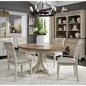 Liberty Furniture Farmhouse Reimagined 5-Piece Pedestal Table Set  - Item Number: 652-DR-O5PDS