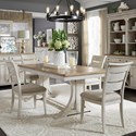 Liberty Furniture Farmhouse Reimagined 5-Piece Table and Chair Set  - Item Number: 652-DR-O5TRS