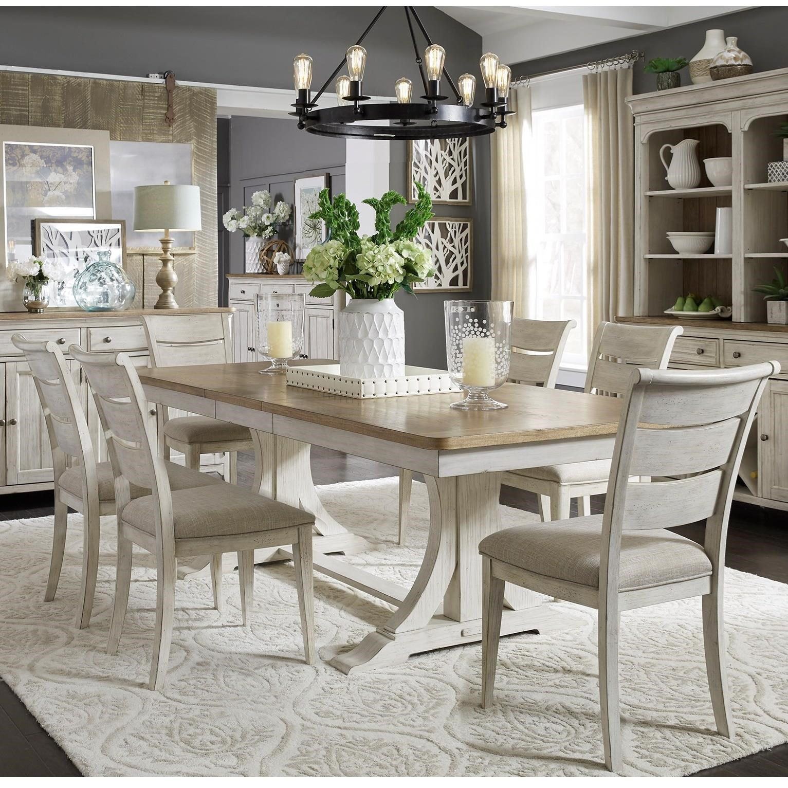 Farmhouse Reimagined 7-Piece Table and Chair Set by Liberty Furniture at Dinette Depot