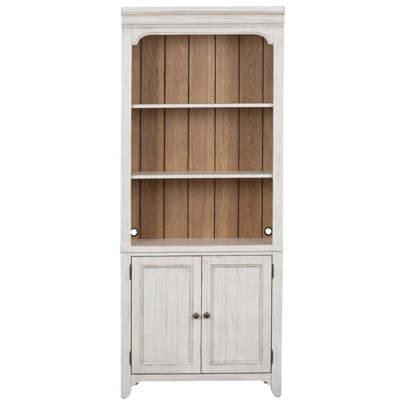 Farmhouse Reimagined Bookcase by Libby at Walker's Furniture