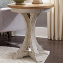 Sarah Randolph Designs Farmhouse Reimagined Chair Side Table - Item Number: 652-OT1021
