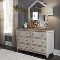 Liberty Furniture Farmhouse Reimagined Dresser & Mirror - Item Number: 652-YBR-DM