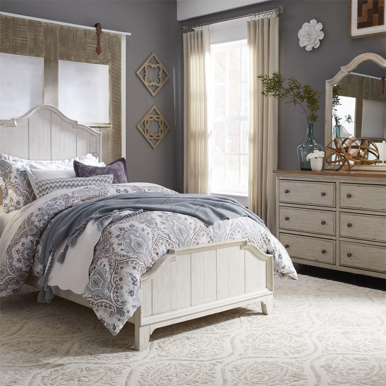Farmhouse Reimagined Full Panel Bed, Dresser & Mirror by Liberty Furniture at Northeast Factory Direct