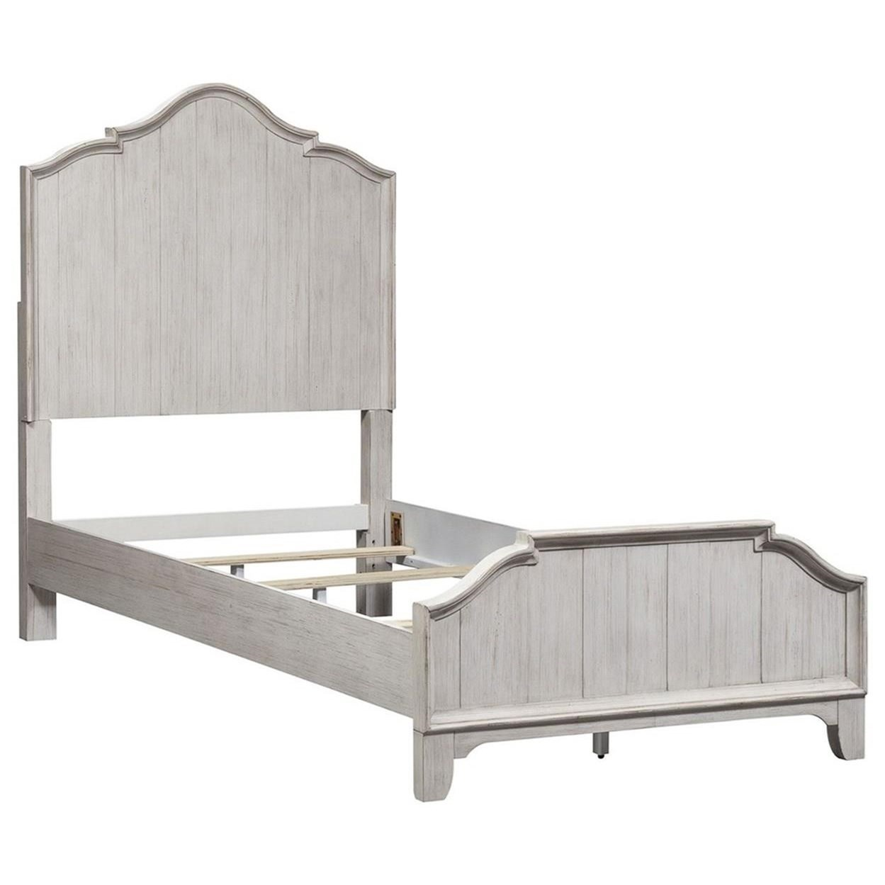 Farmhouse Reimagined Twin Panel Bed by Libby at Walker's Furniture