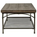 Liberty Furniture Franklin Cocktail Table with Metal Base