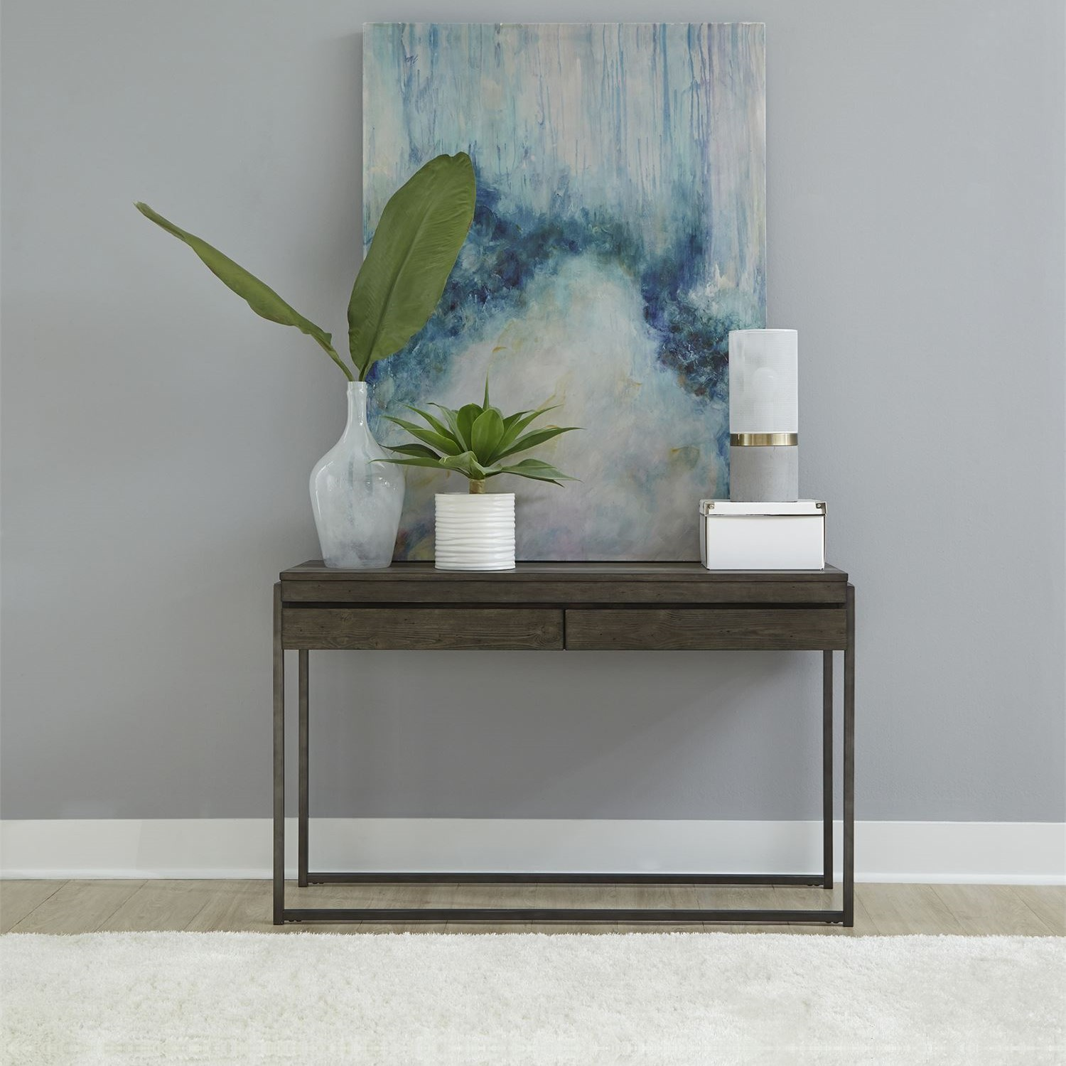 Gateway Sofa Table by Libby at Walker's Furniture