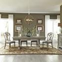 Liberty Furniture Grand Estates 5 Piece Trestle Table Set  - Item Number: 634-DR-5TRS