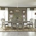 Liberty Furniture Grand Estates 7 Piece Trestle Table Set  - Item Number: 634-DR-7TRS
