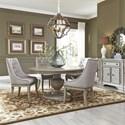 Liberty Furniture Grand Estates 5 Piece Pedestal Table Set  - Item Number: 634-DR-O5PDS