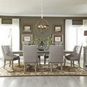 Liberty Furniture Grand Estates 7 Piece Trestle Table Set  - Item Number: 634-DR-O7TRS