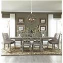 Liberty Furniture Grand Estates 7 Piece Trestle Table Set - Item Number: GRP-634-TRESTLETBL6