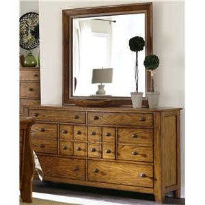 Liberty Furniture Grandpa's Cabin Dresser and Mirror Set