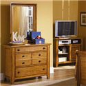 Liberty Furniture Grandpa's Cabin Three Drawer Dresser and Mirror - Item Number: 175-BR30+50