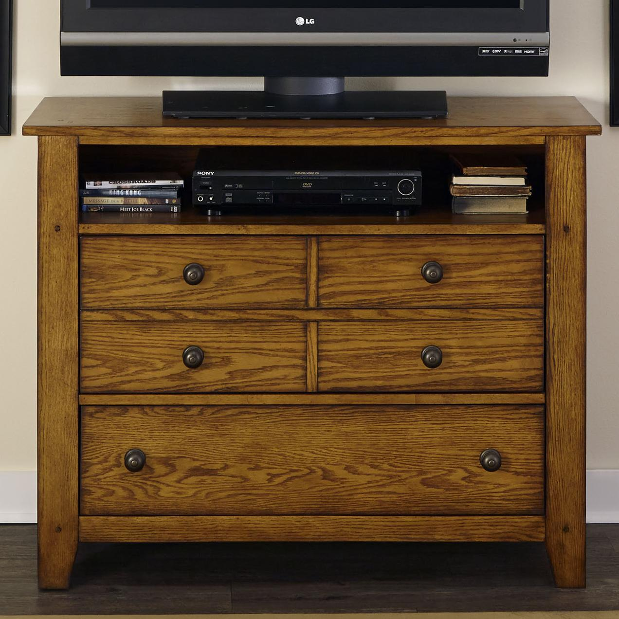 Grandpa's Cabin Media Chest by Liberty Furniture at Northeast Factory Direct