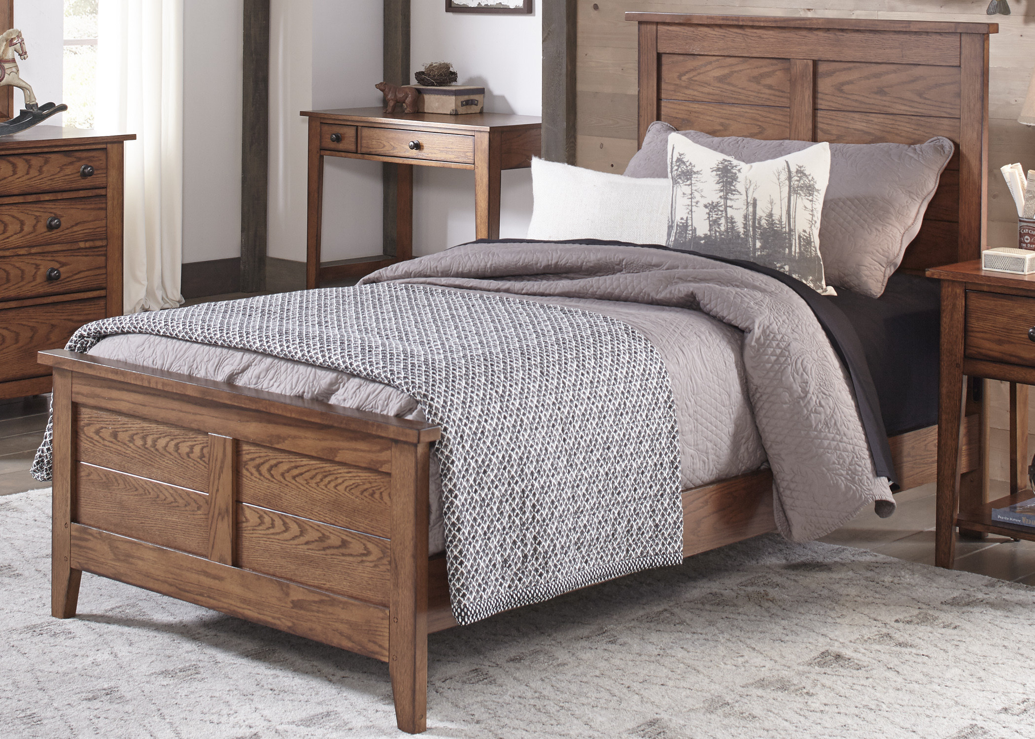 Liberty Furniture Grandpa's Cabin Full Panel Bed  - Item Number: 175-YBR-FPB