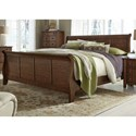 Liberty Furniture Grandpa's Cabin Queen Sleigh Bed - Item Number: 375-BR-QSL