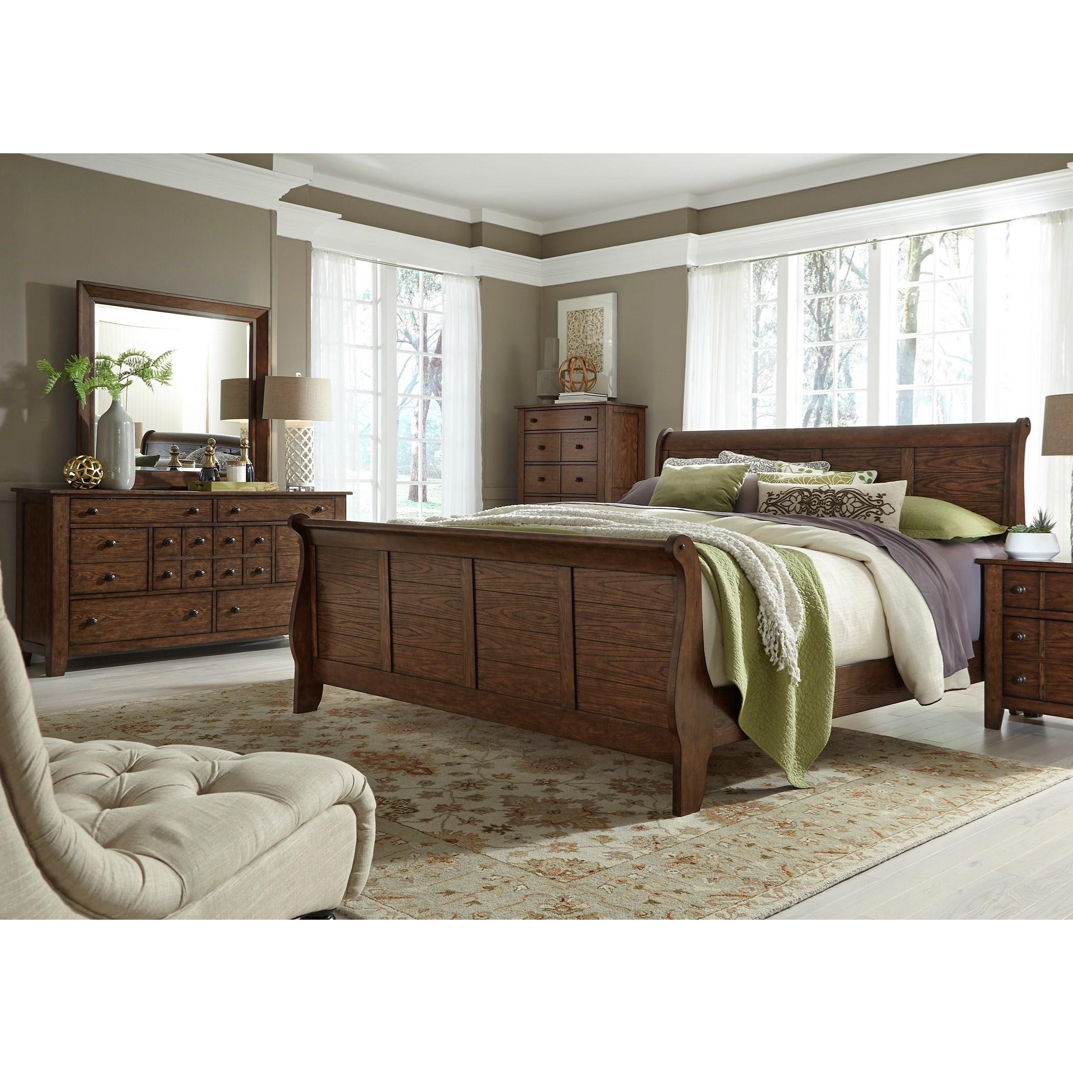 Liberty Furniture Grandpa's Cabin Queen Bedroom Group - Item Number: 375-BR-QSLDM