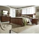 Liberty Furniture Grandpa's Cabin Queen Sleigh Bed, Dresser & Mirror