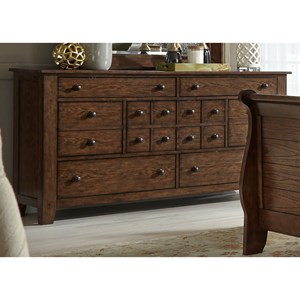 Liberty Furniture Grandpa's Cabin 7 Drawer Dresser