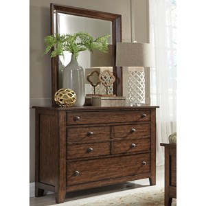 Liberty Furniture Grandpa's Cabin Dresser & Mirror