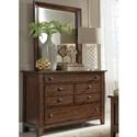 Liberty Furniture Grandpa's Cabin Dresser & Mirror  - Item Number: 375-YBR-DM