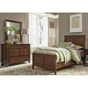 Liberty Furniture Grandpa's Cabin Full Panel Bed, Dresser & Mirror