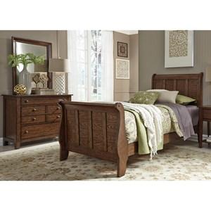 Liberty Furniture Grandpa's Cabin Full Sleigh Bed, Dresser & Mirror